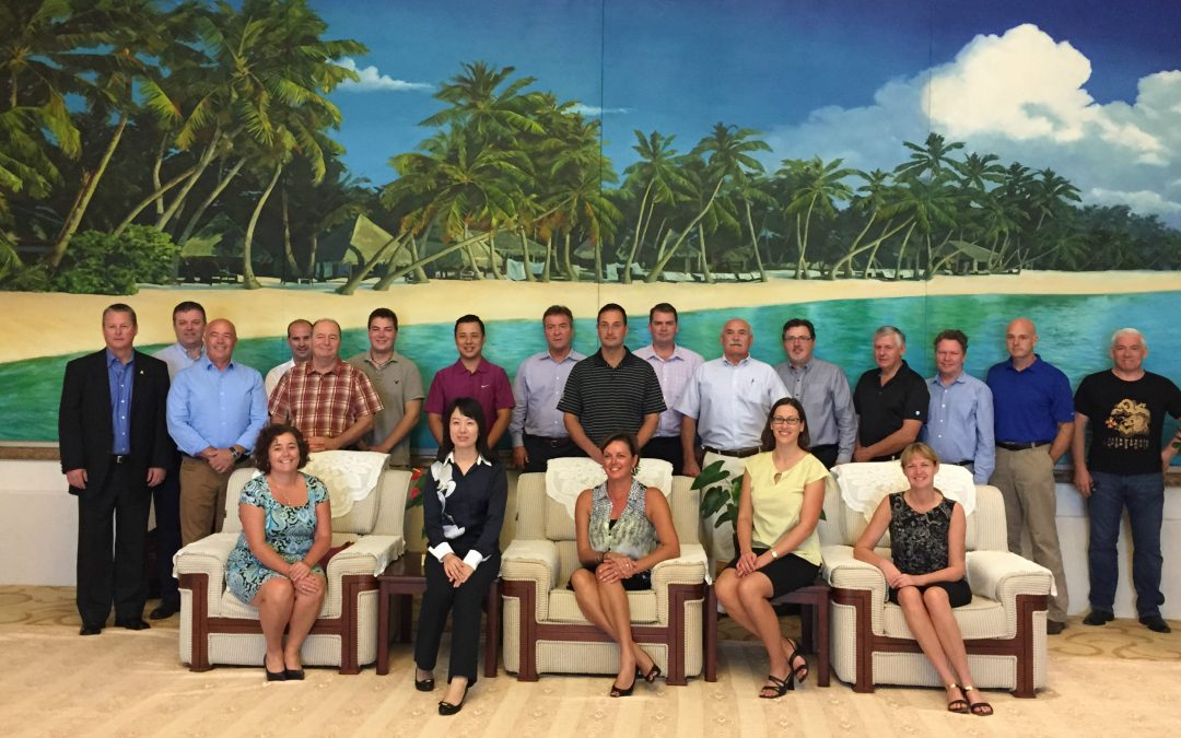 PEI Premier and Delegation visited Hainan in 2014, Sunrise provided key services